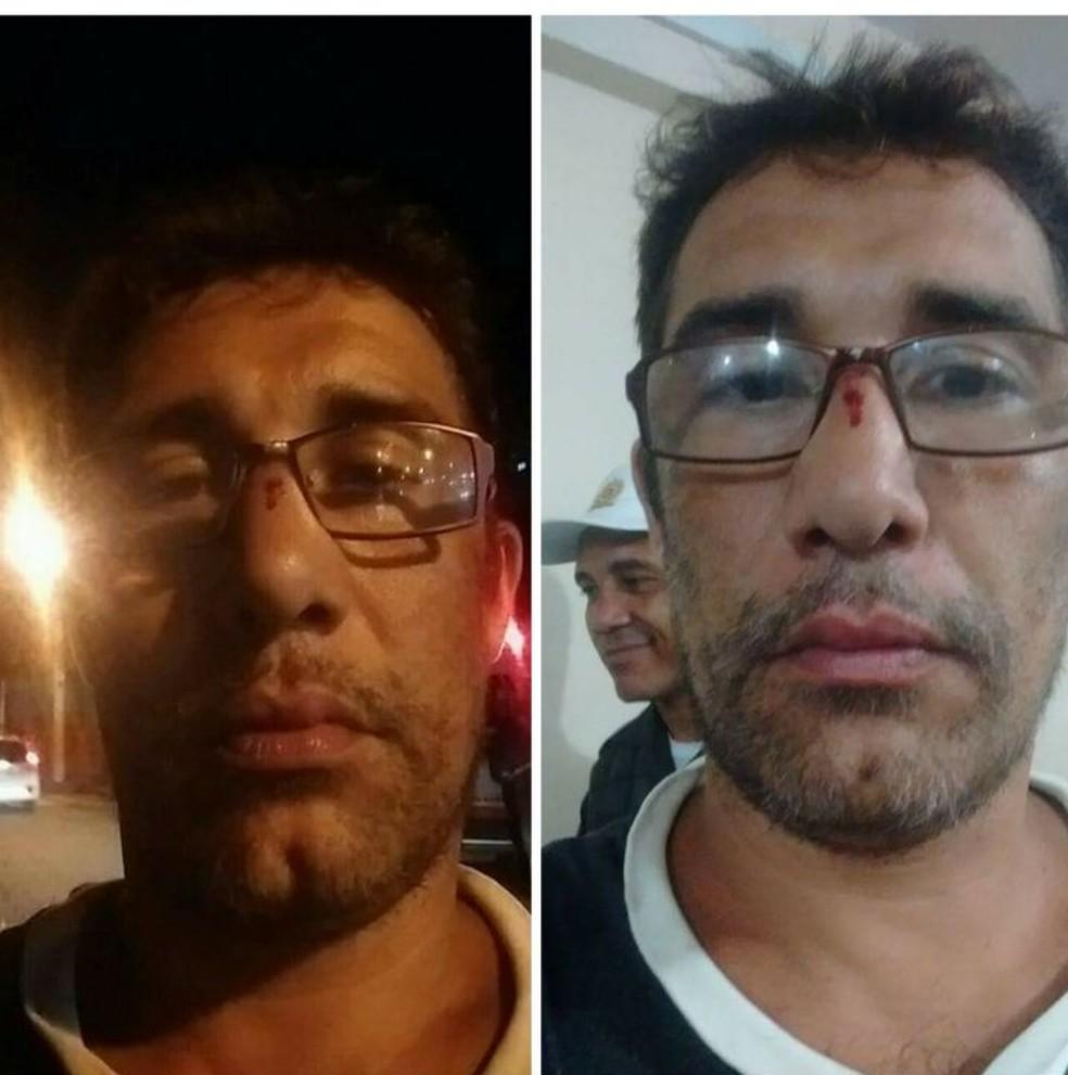 Torcedor diz ter sido agredido por dirigente do Vasco — Foto: Reprodução