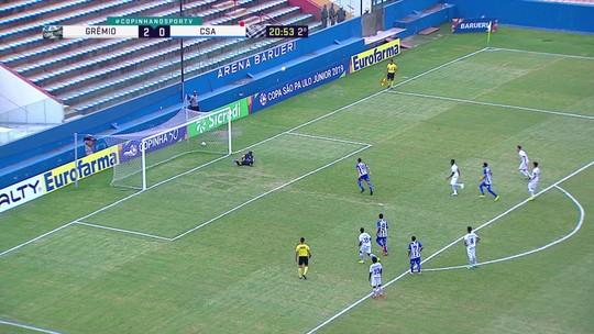 Melhores momentos de Grêmio 2 x 0 CSA pela Copa SP de futebol júnior