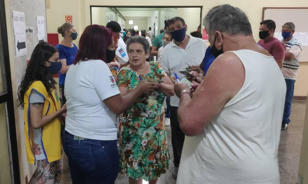 Eleitora compareceu sem máscara e foi impedida de votar em Cascavel