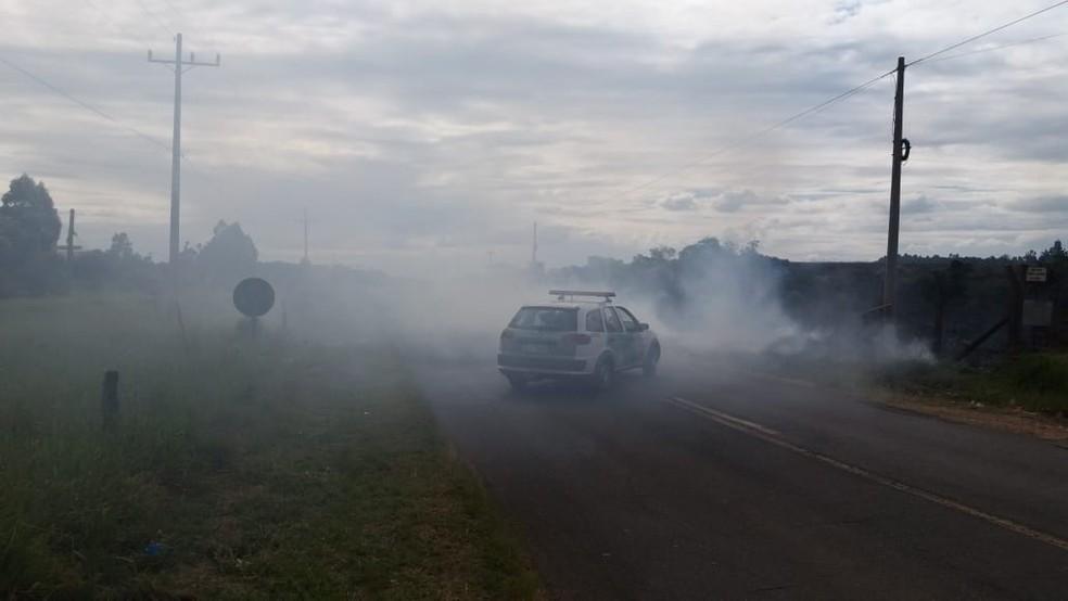 Corpo de Bombeiros controlou fogo em área de pastagem em Avaré — Foto: Corpo de Bombeiros/Divulgação