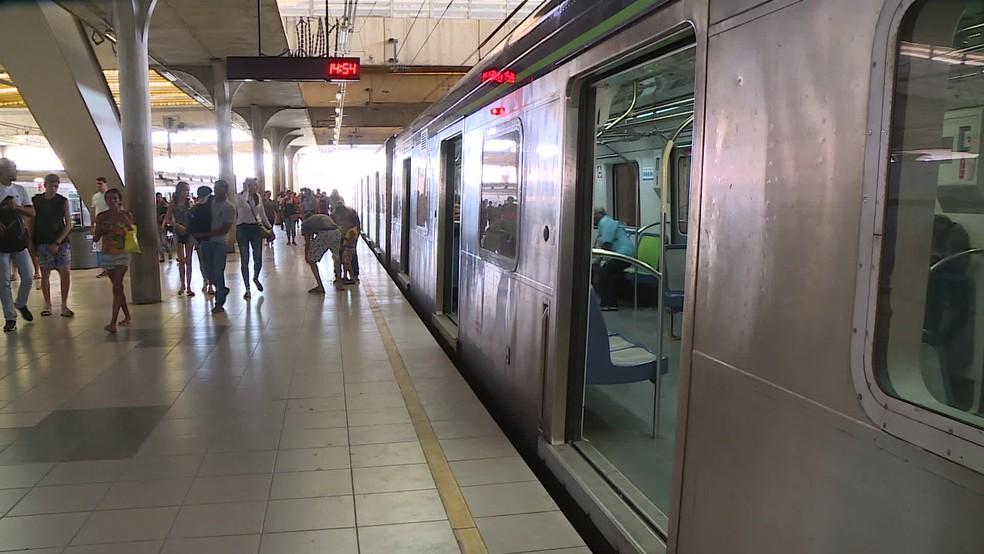 Estação Recife do metrô fica no Centro da cidade — Foto: Reprodução/TV Globo