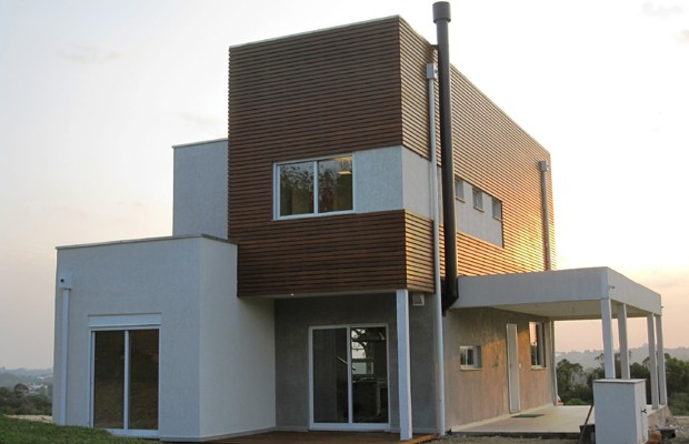 Estruturas da Tecverde são feitas de chapas de madeira (Foto: Divulgação)