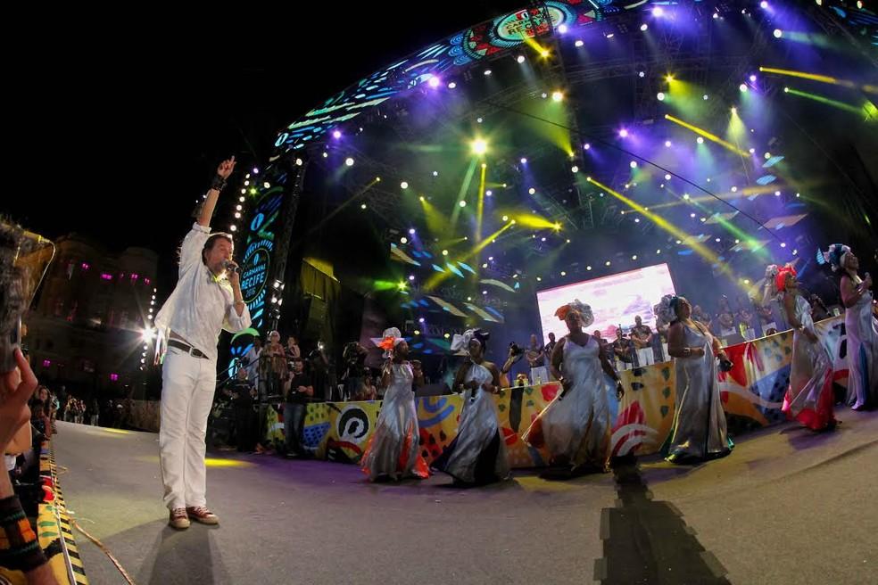 O cantor pernambucano Lenine é uma das atrações do carnaval do Recife (Foto: Aldo Carneiro/Pernambuco Press)