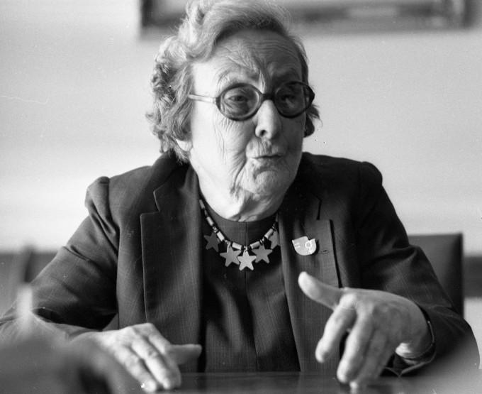 A sufragista paulistana Bertha Lutz, em imagem de 1975, aos 81 anos