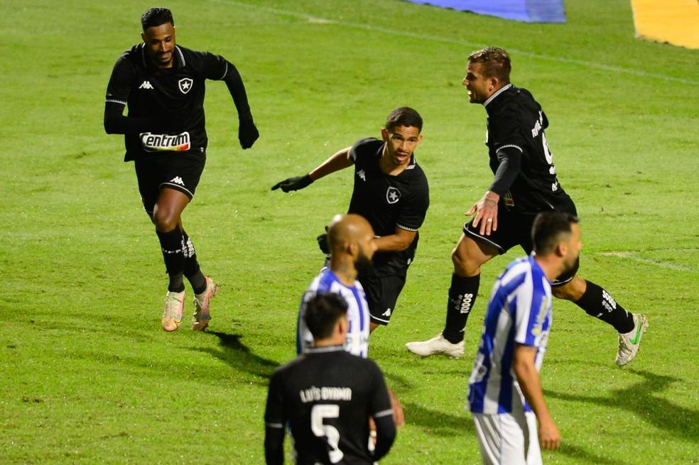 Marco Antônio comemora gol nos acréscimos em Avaí x Botafogo — Foto: iShoot Photography/Futura Press