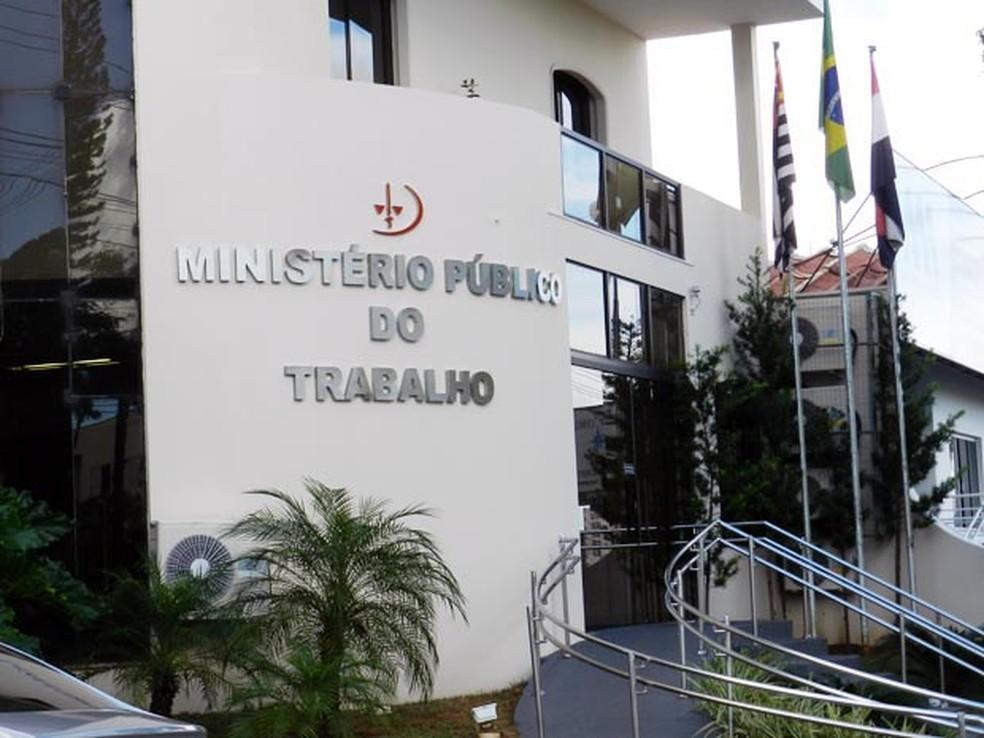 Acordo foi firmado com o Ministério Público do Trabalho, em Presidente Prudente — Foto: Arquivo/G1