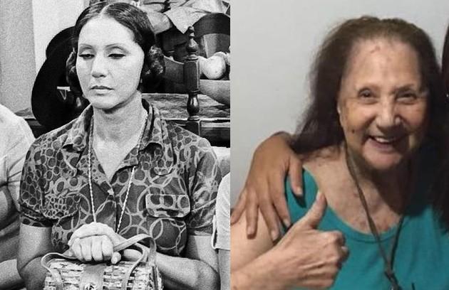 Dorinha Durval viveu Dulcinéia, uma das irmãs Cajazeiras. Depois de assassinar o marido, Paulo Sergio Alcântara, em 1980, sumiu da mídia e se tornou artista plástica. Hoje, tem 92 e apareceu sendo vacinada contra Covid num vídeo feito pela filha (Foto: Reprodução)