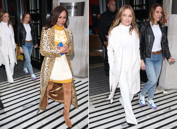 Mel B, Geri Halliwell e Melanie C, as Spice Girls (Foto: Backgrid)