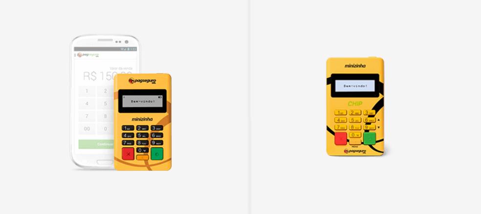 6882ce142 ... Minizinha e Minizinha Chip são máquinas simples para fazer vendas com  cartões — Foto: Divulgação