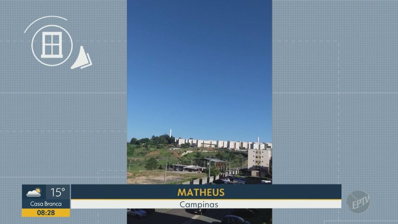 Telespectadores mandam fotos ao BDC para mostrar o clima ensolarado desta sexta (20)