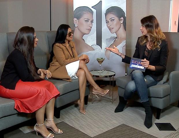 Simone e Simaria com Luciana Gimenez (Foto: Divulgação/RedeTV!)