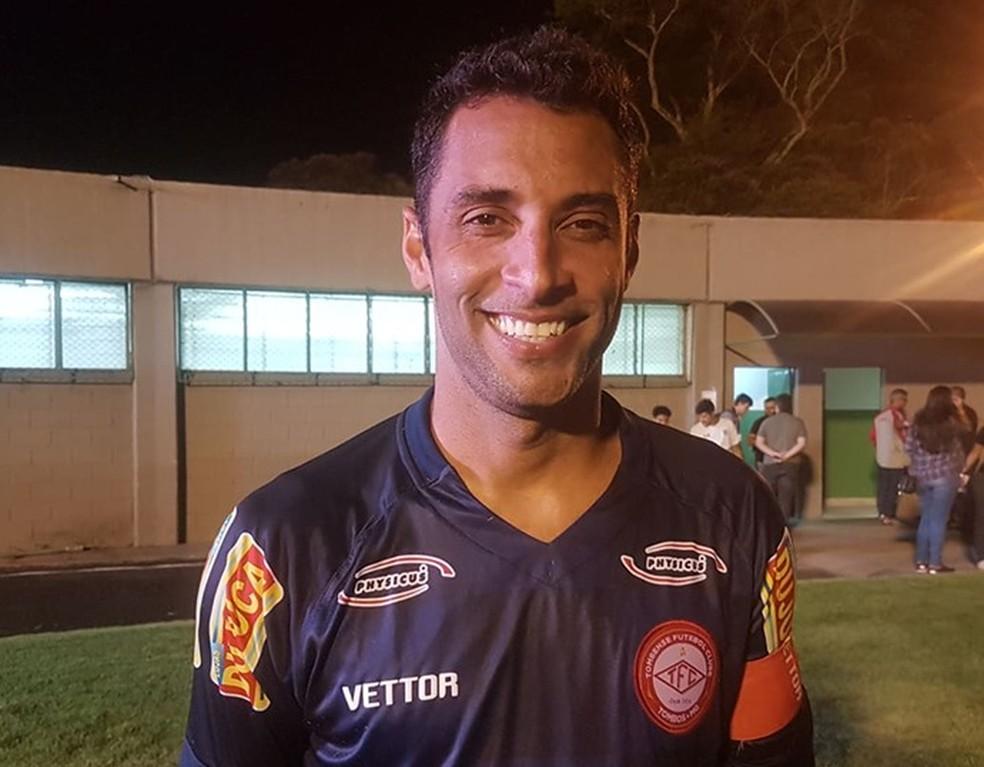 Ibson fez o gol da vitória do Tombense — Foto: Bruno Ribeiro