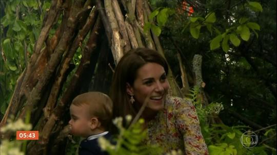 Kate Middleton apresenta projeto de jardim em evento britânico dedicado à floricultura