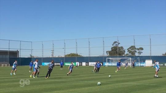 Renato fecha último treino do Grêmio antes de decisão contra o Cruzeiro