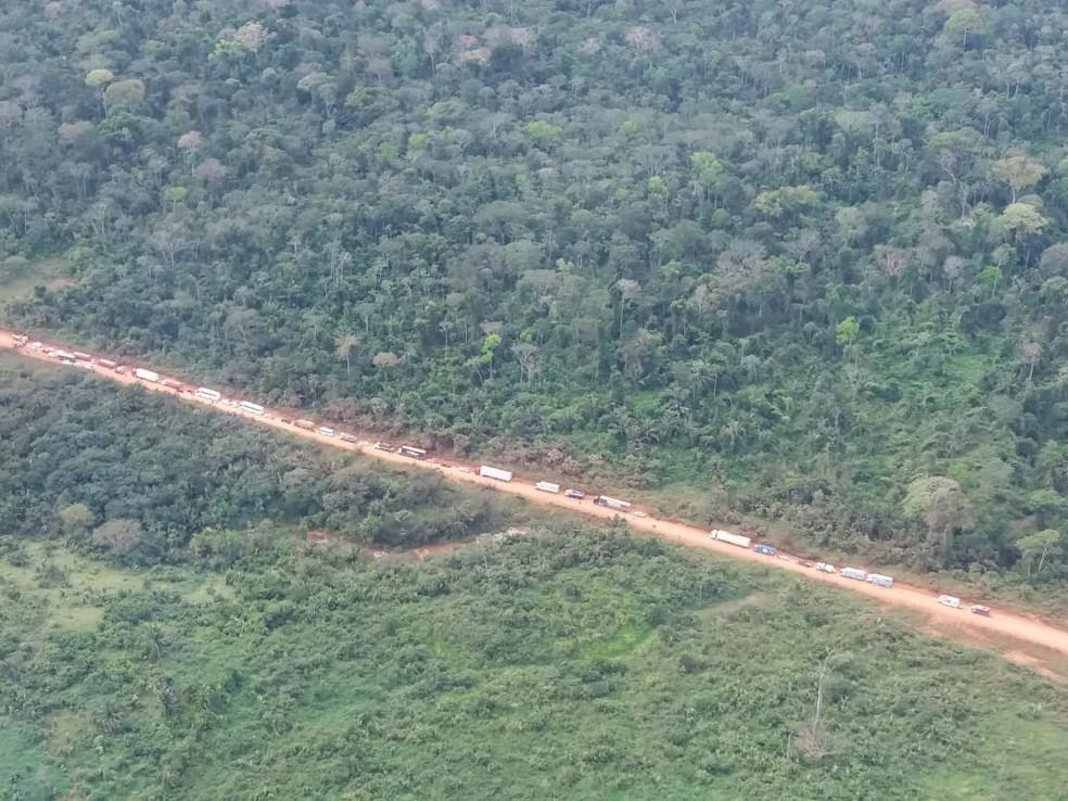 Trecho da Rodovia BR-230, no sudoeste do Pará. — Foto: Reprodução / PRF