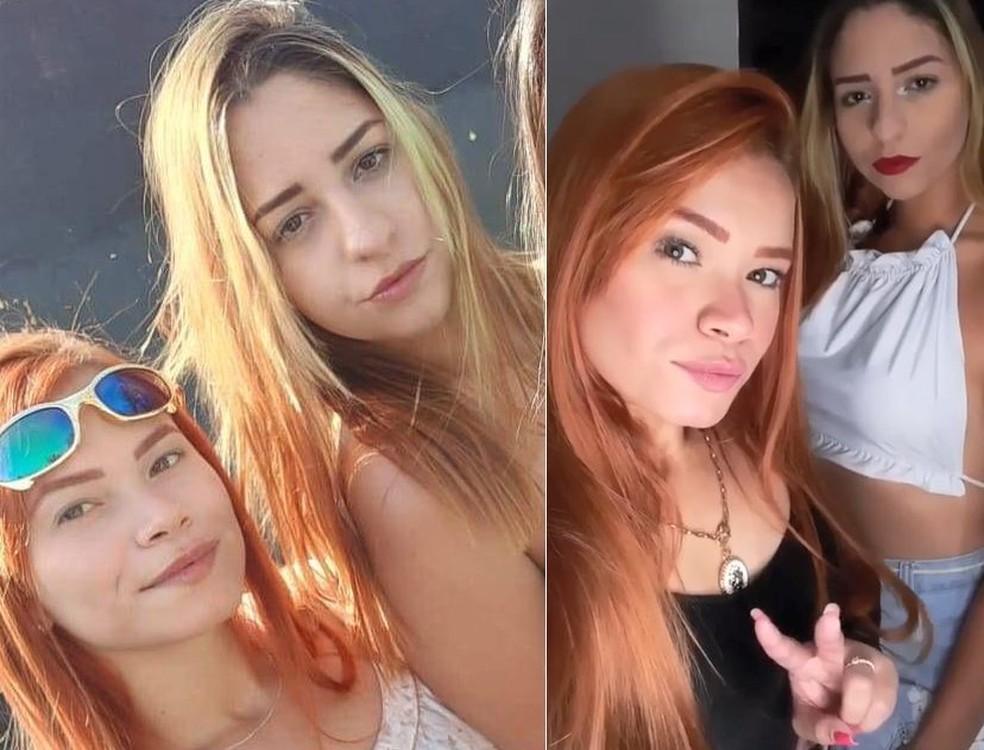 Ketlin (lado esquerdo da foto) ficou ferida no acidente que matou a amiga Letícia em Jaú.   — Foto: Arquivo pessoal