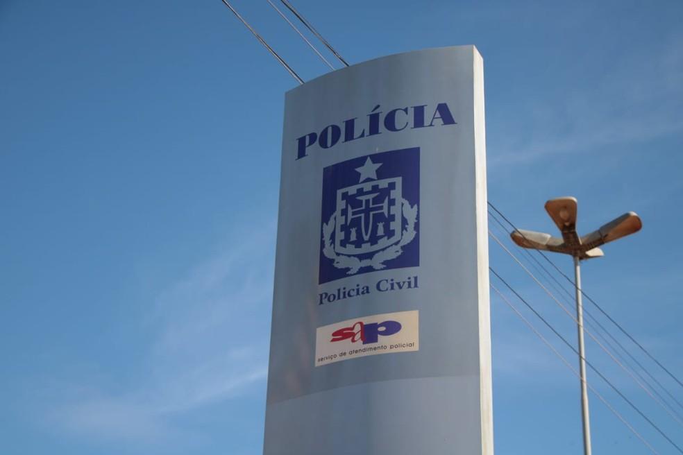 Homem é preso na Bahia suspeito de matar namorada a facadas na frente de filho da vítima em SP  — Foto: Haeckel Dias / Ascom-PC