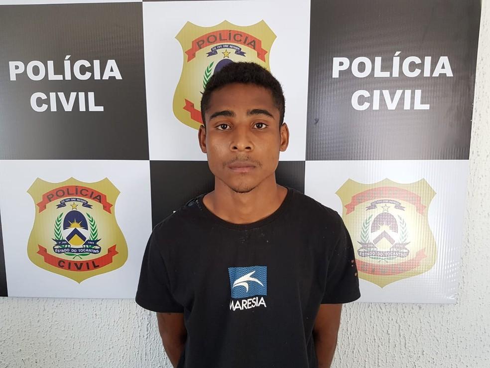Domingos foi preso pela Polícia Civil de Tocantinópolis (Foto: Divulgação/Polícia Civil)