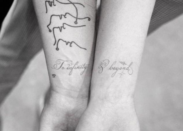 As tatuagens nos braços de Joe Jonas e Sophie Turner: Ao infinito e além! (Foto: Instagram)