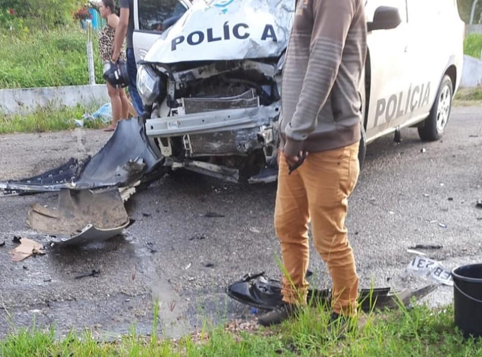 Motociclista morre ao colidir em viatura policial, em Manari — Foto: Portal Agreste Violento/Reprodução
