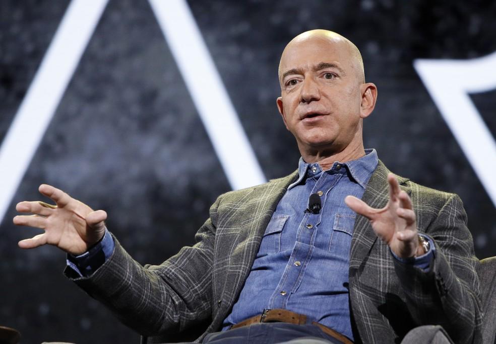 Jeff Bezos, fundador da Amazon, em 6 de junho de 2019. — Foto: AP Photo/John Locher