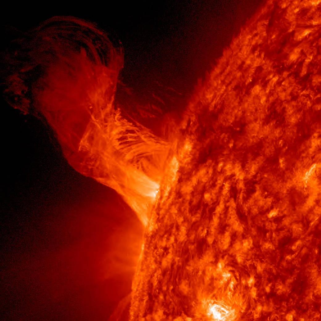 Erupção solar (Foto: NASA)