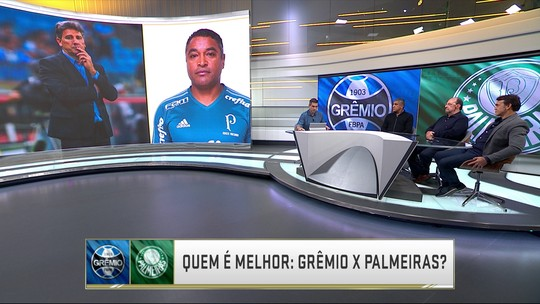 Comentaristas elegem melhor elenco em disputa de quem é quem entre Grêmio e Palmeiras