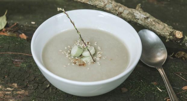 Jantar: Sopa de alho poró (Foto: Divulgação)