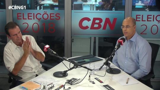 Witzel e Paes trocam farpas e debatem propostas no debate do G1 e da CBN