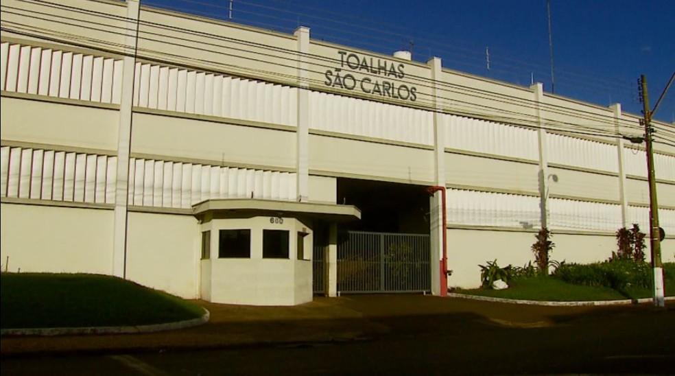 Empresa Toalhas São Carlos tem 72 anos e é uma das mais tradicionais da cidade (Foto: Reprodução EPTV)