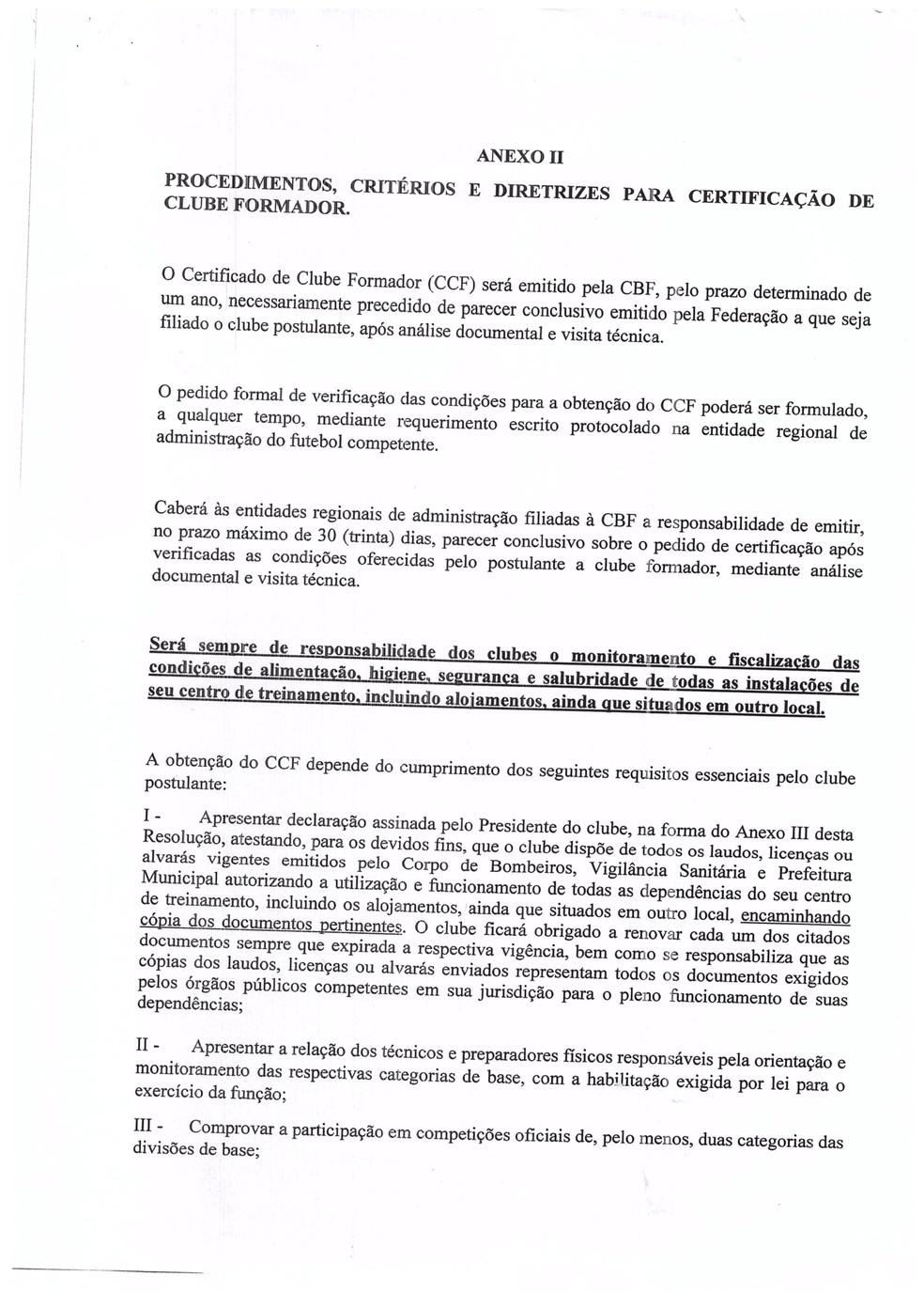 Documento CCF1 — Foto: Reprodução