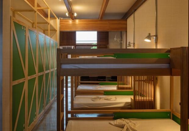 O alojamento possui quartos projetados para acomodar seis alunos cada, divididos em alas feminina e masculina (Foto: Divulgação)