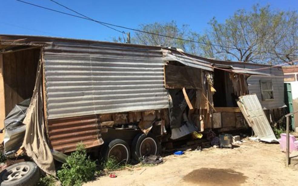 Quase a totalidade dos moradores de Escobares tem origem hispânica — Foto: BBC