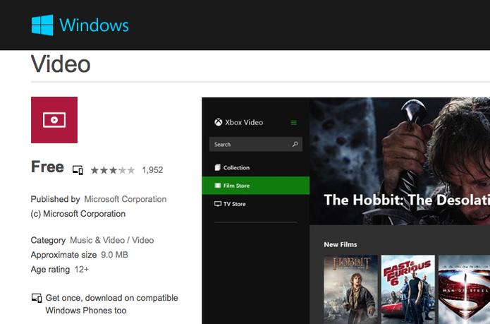 Nova versão do app Vídeos no Windows 8 é capaz de reproduzir formato MKV  (Foto: Reprodução/Microsoft)