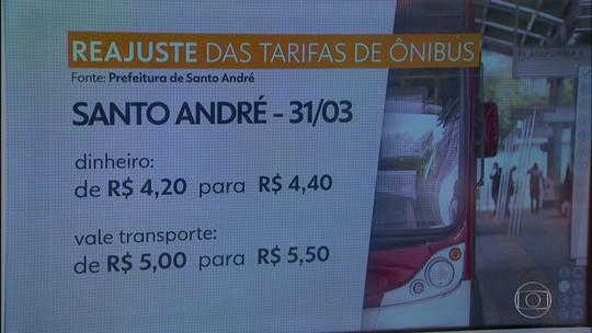 Tarifa de ônibus em Santo André sobe para R$ 4,40 neste sábado