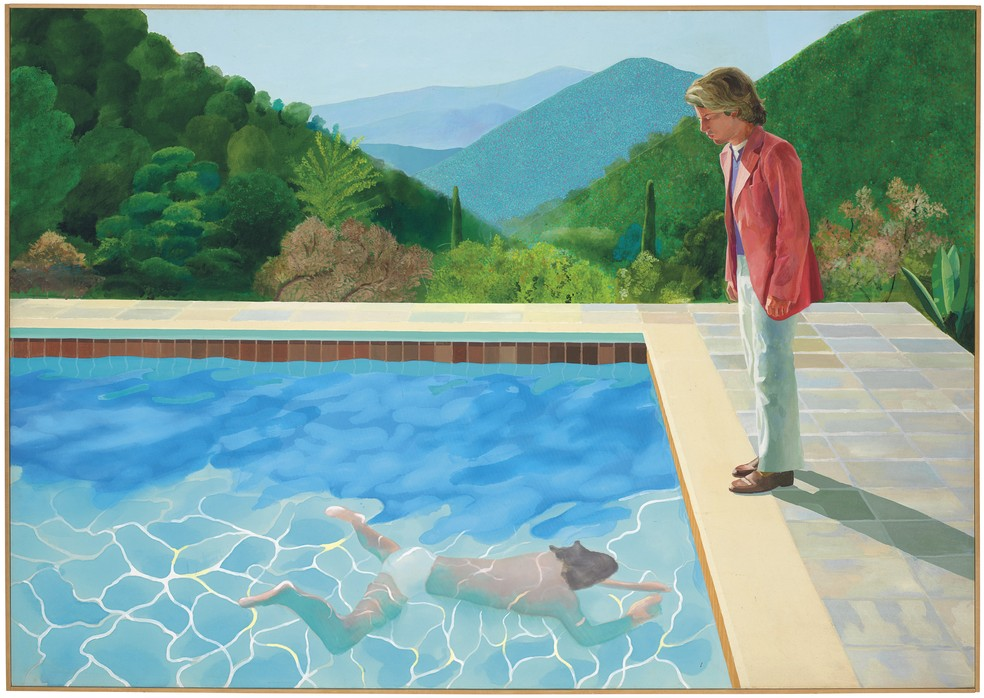 Quadro de David Hockney bate recorde para artista vivo em leilão em Nova York — Foto: David Hockney/Courtesy of Christie's