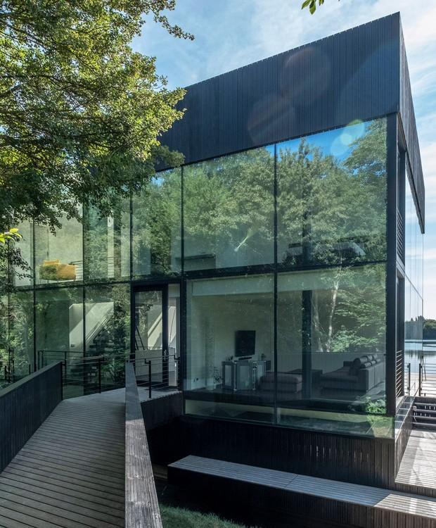 Casa que flutua: outra perspectiva da entrada (Foto: Blue Sky Images/Mecanoo/Reprodução)