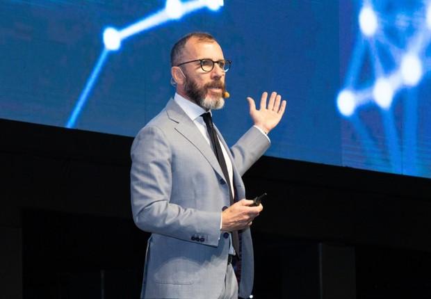 Pietro Labriola, CEO da TIM Brasil, durante o evento Futurecom (Foto: Divulgação/Futurecom)