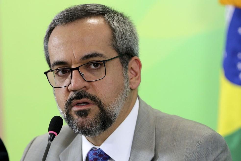 O ministro da Educação, Abraham Weintraub, em foto de arquivo. — Foto: Wilson Dias/Agência Brasil