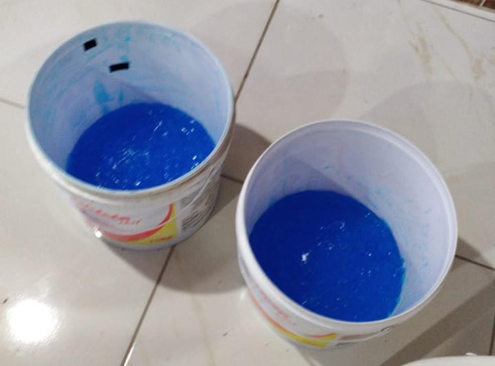 Fábrica clandestina produzia álcool em gel com gel de cabelo no RN — Foto: Cedida/Polícia Civil