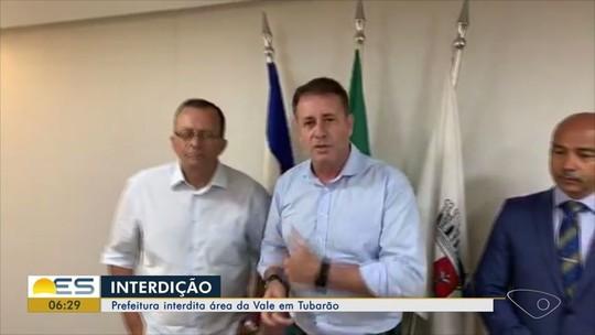 Prefeitura de Vitória interdita três áreas da Vale no ES e multa empresa em R$ 35 milhões