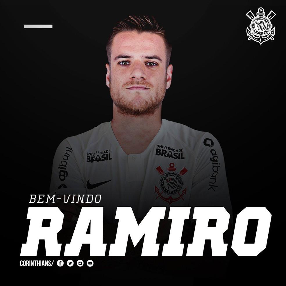 Corinthians confirma contratação de Ramiro — Foto: infoesporte