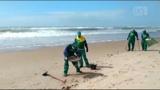 VÍDEO: Manchas de óleo atingem praia de Pituaçu, em Salvador