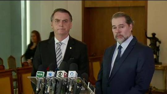 Bolsonaro diz que 'muitas vezes' vai consultar Toffoli antes de tomar decisões