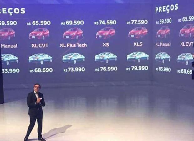 Preços do novo Toyta Yaris vazam antes do lançamento oficial em evento para concessionários (Foto: Reprodução)