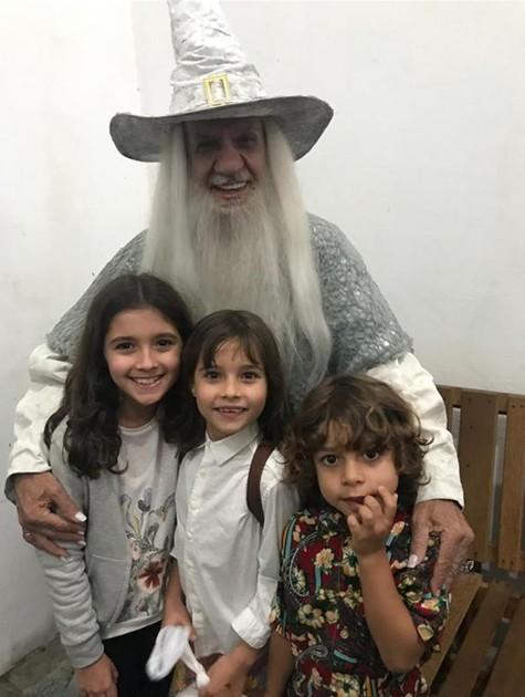 Perfeito Fortuna e os netos (Foto: Arquivo pessoal)