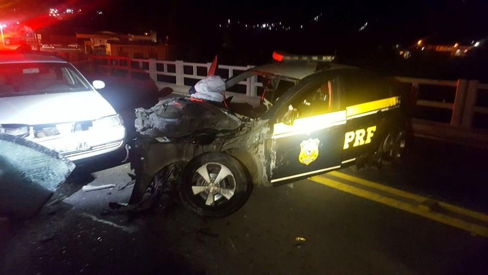 Motorista foi preso após causar segundo acidente (Foto: PRF/Divulgação)