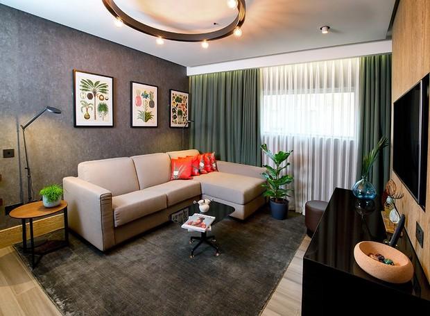A sala é feita com materiais sustentáveis (Foto: Facebook / HiltonLondonBankside)