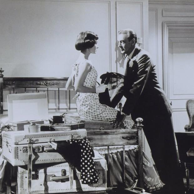 Audrey Hepburn e Lary Cooper em Um Amor Na Tarde (Foto: Reprodução)