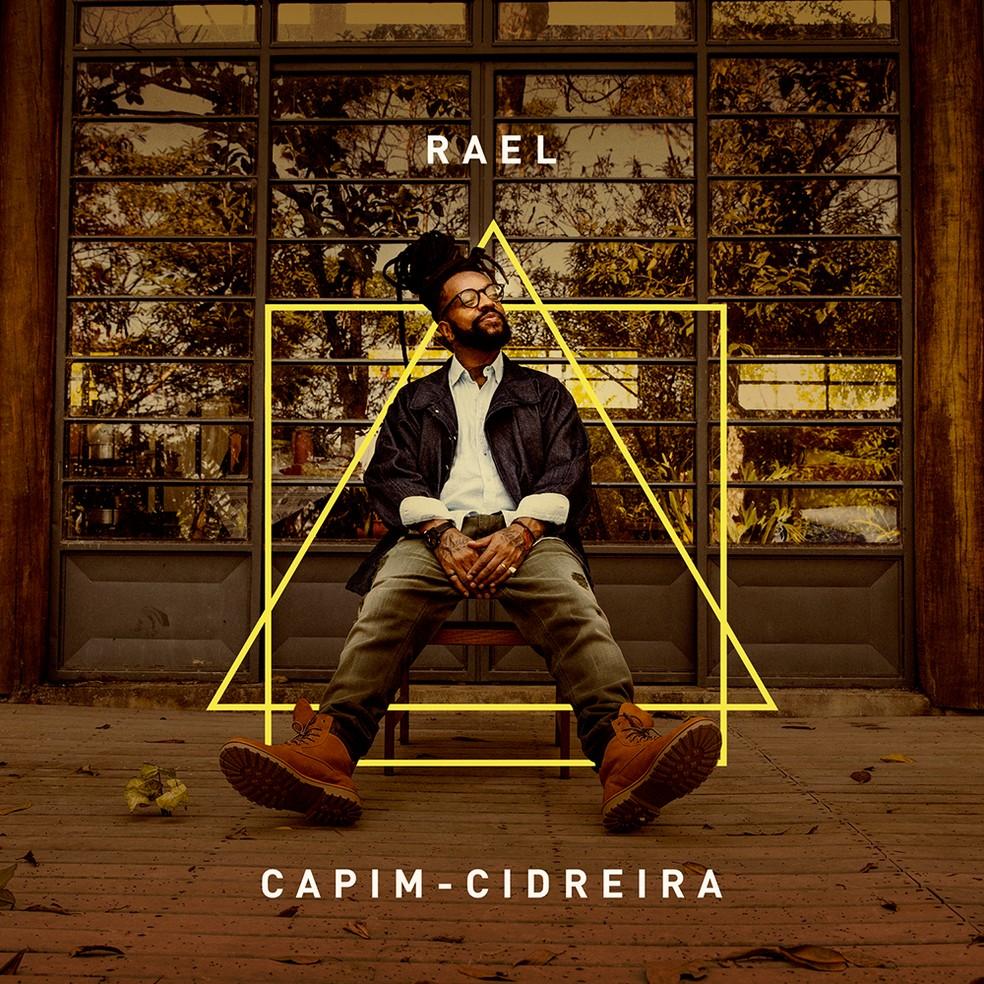 Capa do álbum 'Capim-cidreira', de Rael — Foto: João Wainer com arte de B+Ca